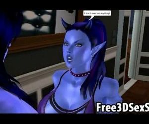 Horny 3D cartoon avatar..