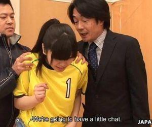 Asian goalie getting..