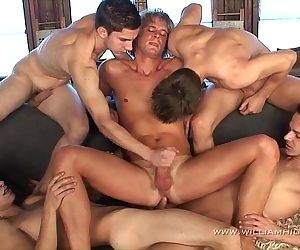 Gay Resort Wank Party..