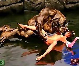 River Monster. 3D..