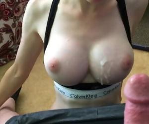 Big titty babe sucking..
