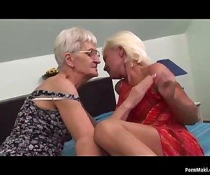 Lesbian grannies having..