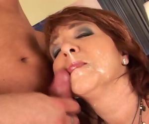 redhead curvy mom first..