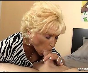 Naughty Granny Blowjob..