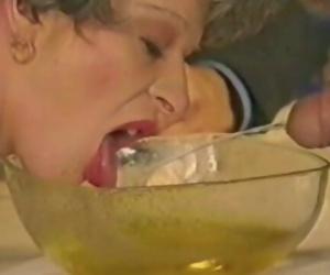 Granny drinks piss &..