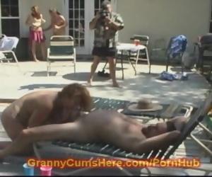 Granny sucks COCK in..