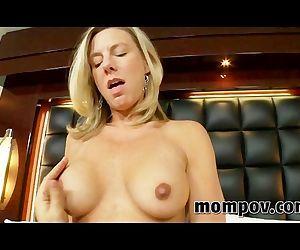 Sexy blonde milf in..