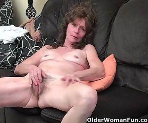 Skinny granny in..