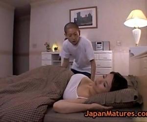 Miki Sato and young boy..