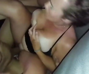 Husband films his busty..