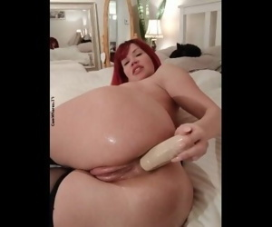 redhead anal dildo