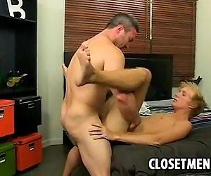 Muscular older man..