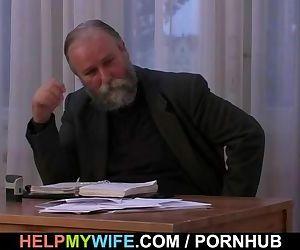 Older husband pays him..