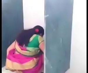 Desi teacher in toilet..