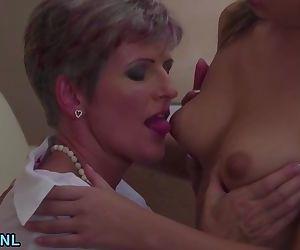 Two mature lesbians..