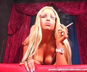 Smoking Blonde wtih..
