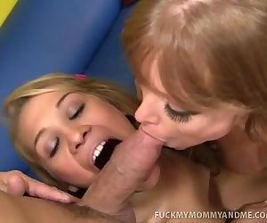 MILF and Teen Girl In..