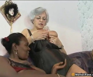 Interracial mature..