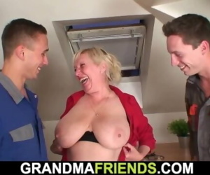 Very old busty granny..