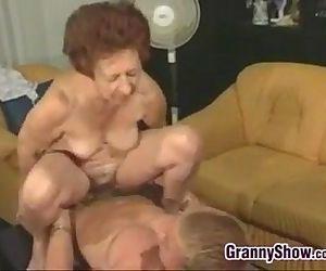 Horny Grandma And A..