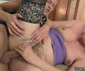 She takes his stiff..