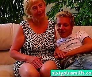 Teen boy seduced plump..