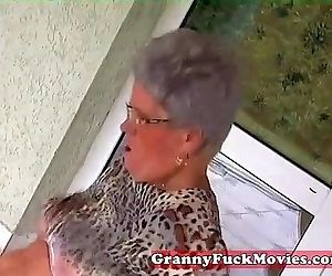 Young stud fucking old..