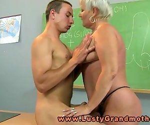 Granny amateur teacher..