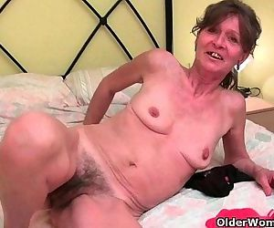 Hairy granny gets her..