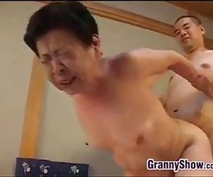 Japanese Grandma Giving..