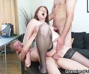 Bossy woman takes two..