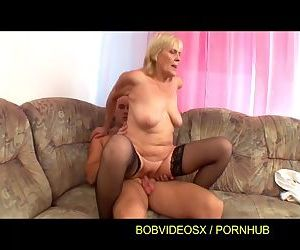 A grandmother fucked on..