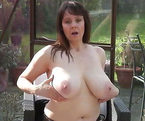 Amateur granny with big..