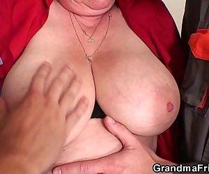 Nasty granny double..