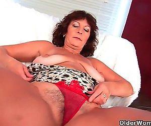 Busty senior lady Alma..