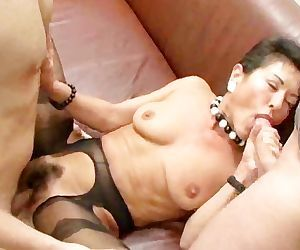 Hairy mature boss with..