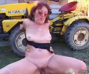 Granny takes young dick..
