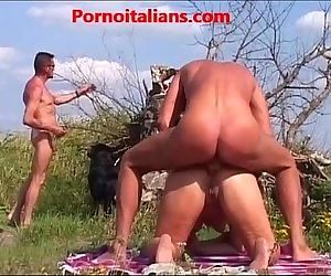 Mature fucked outdoors..