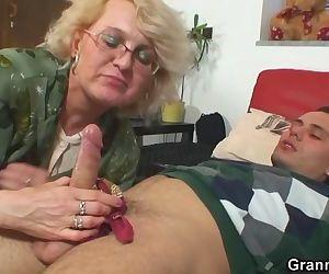 Shaved pussy grandma..
