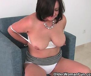 Busty mature mom in..
