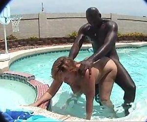 Bbw MILF in the pool