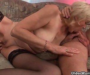 Grandma in stockings..