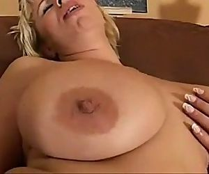 busty milf with red..