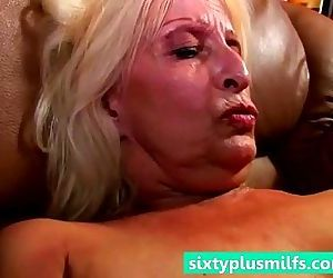 Hot grandmother cumming..