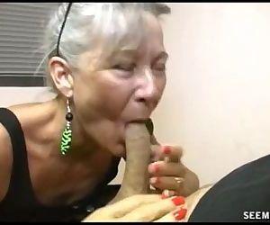 Slutty Granny Blowjob -..