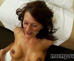big tit milf fucks and..