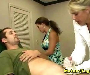 Milf matures tugging..