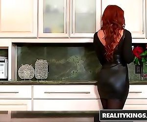 Sexy ginger milf gets..