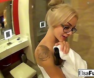 Elsa Jean shows off her..