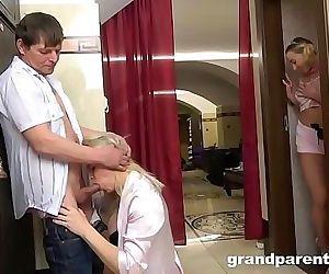 Grandparents Caught..
